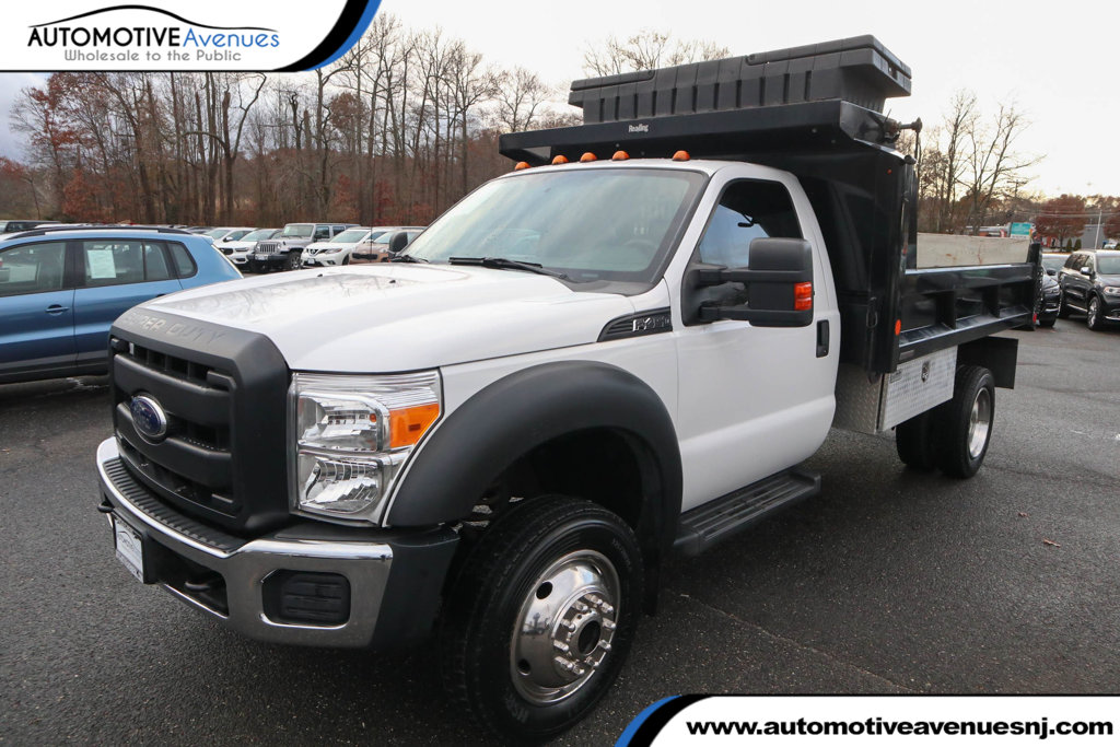 Pre-Owned 2015 Ford Super Duty F-450 DRW Cab-Chassis Regular Cab 4X2 XL with Hydraulic Dump Body